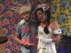 Neymar faz festa junina e David Brazil é a 'noiva' do craque