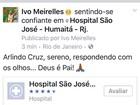 'Arlindo está sereno, se recuperando bem', diz Ivo Meirelles após visita