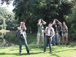 Observadores se reuniram em Timbó, no Vale do Itajaí (Foto: Maicon Mohr/Arquivo pessoal)