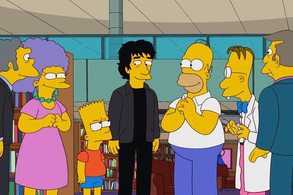 Gaiman já havia encarnado sua versão animada no sexto episódio da 23º temporada (Foto: Divulgação)