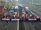 Manifestantes bloqueiam rodovias no Rio Grande do Sul nesta quinta