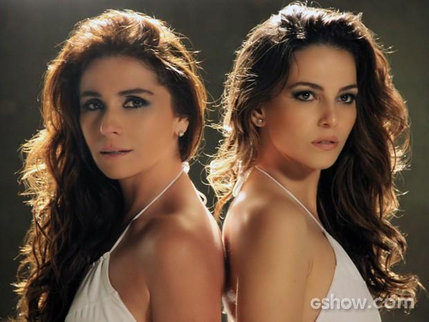 Clara e Marina juntas e sérias (Foto: Inês Lampreia/TV Globo)