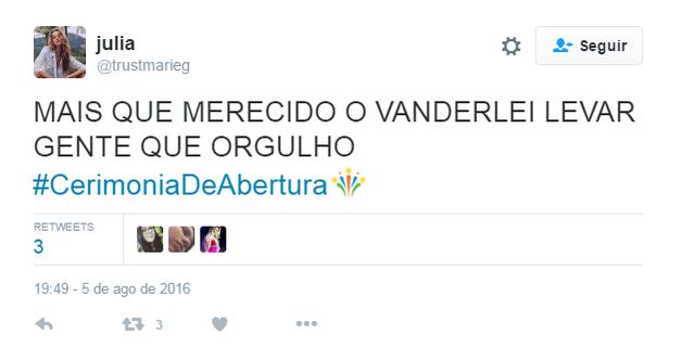 Twitter Olimpíada (Foto: Reprodução Twitter)