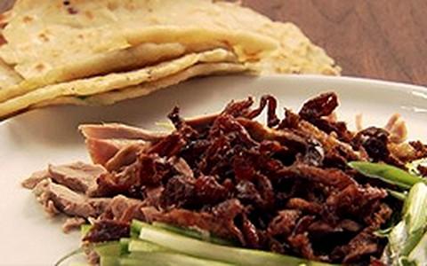 Panquecas com pimenta de Sichuan em grãos