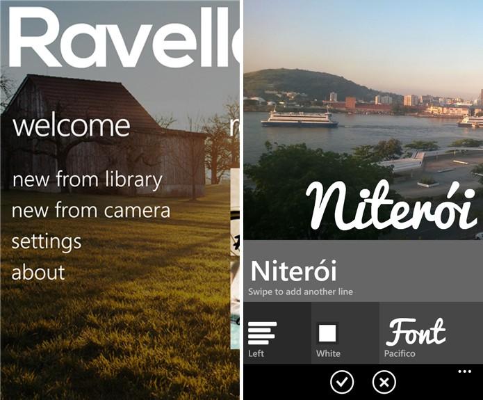 Revelle oferece a opção de adicionar frases e lengendas diretamente nas suas fotografias (Foto: Reprodução/Elson de Souza)