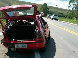 Acidente na BR-101, trecho entre as cidades de Itagimirim e Itapebi (Foto: Divulgação/Polícia Civil)