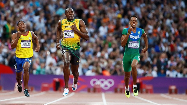 Usain Bolt, Atletismo, 200m Semifinal (Foto: Ag&#234;ncia Reuters)