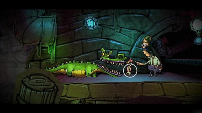 Os puzzles são resolvidos com adesivos encontrados no cenário (Foto: Divulgação)