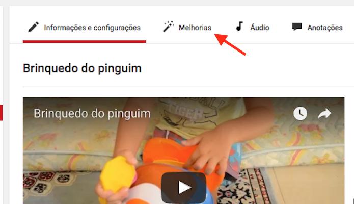 Acessando a página de melhorias para um vídeo do YouTube (Foto: Reprodução/Marvin Costa)