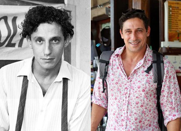 O ator deu vida ao fotógrafo jornalista Ubaldo, em Anos Rebeldes, e dividia apartamento com Inácio Avelar (Foto: CEDOC / TV Globo / Isabella Pinheiro / Gshow)