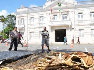 União Brasileira de Municípios  faz ato público da seca na Paraíba (Foto: Walter Paparazzo/G1)