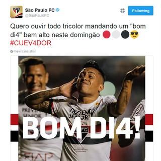 São Paulo provoca Corinthians em rede social (Foto: reprodução / Twitter)