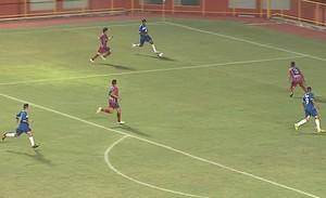 Gol Juliano César Atlético-AC x Plácido de Castro (Foto: Reprodução/TV Acre)