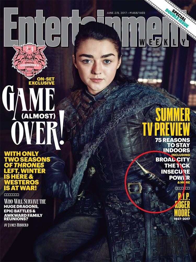 Detalhe na capa de Arya Stark em 'Game of Thrones' pode dar pistas sobre rumo da temporada (Foto: Reprodução/Entertainment Weekly)