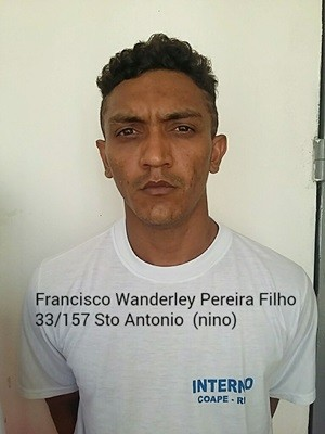 Francisco Wanderley Pereira Filho, de 25 anos. (Foto: Divulgação/Sejuc)
