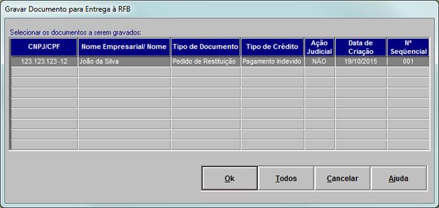 Interface do programa PER/DCOMP da Receita Federal (Foto: Reprodução)