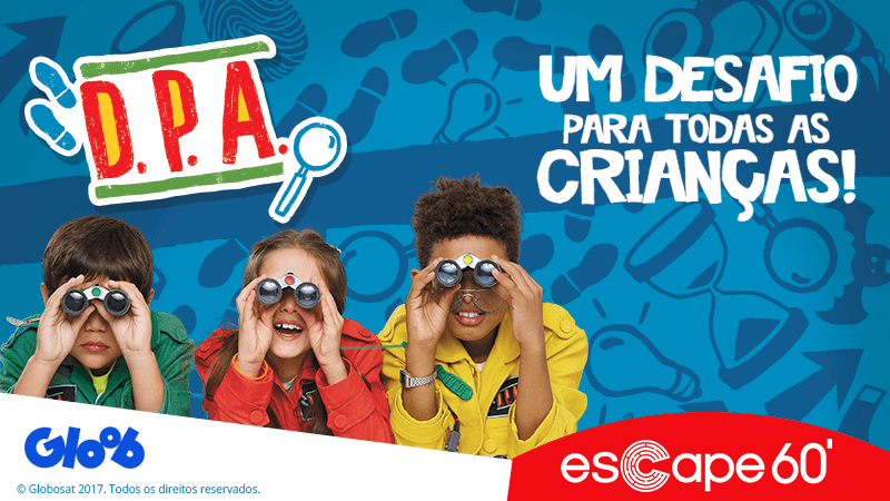 Dpa tem sala no Escape 60 para desafiar as crianças (Foto: Divulgação / Escape 60)