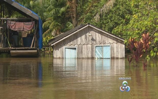 Cheia hisórica do rio Madeira em 2014 (Foto: TV Rondônia )