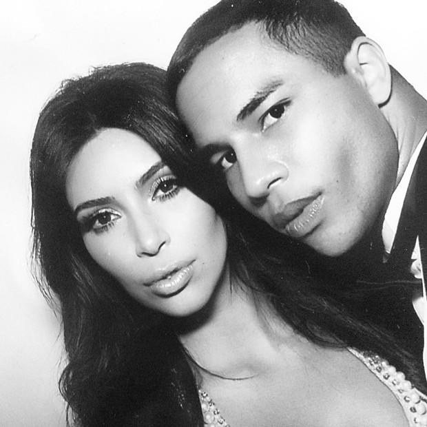 Kim Kardashian e Olivier Rousteing (Foto: Reprodução / Instagram)