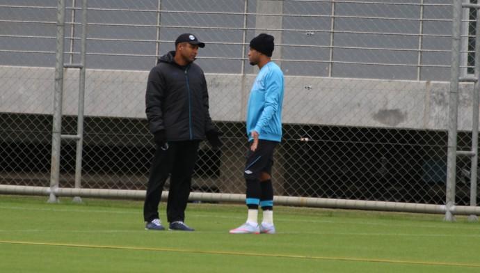Roger Machado Júnior Grêmio (Foto: Eduardo Moura/GloboEsporte.com)