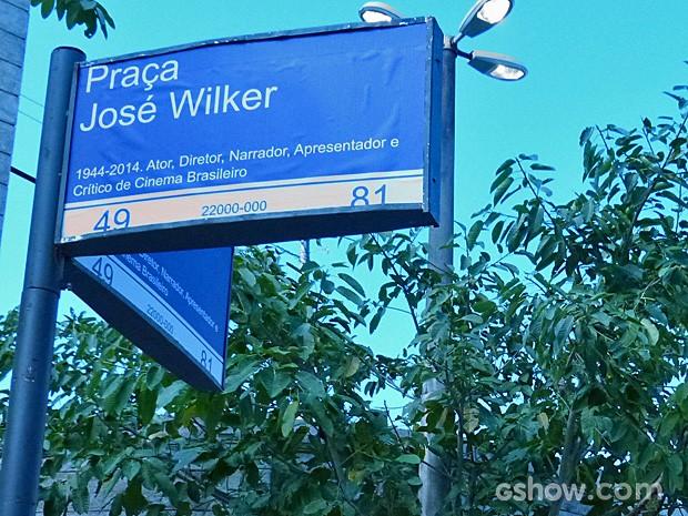 Nome da praça é homenagem a ator (Foto: TV Globo / Malhação)