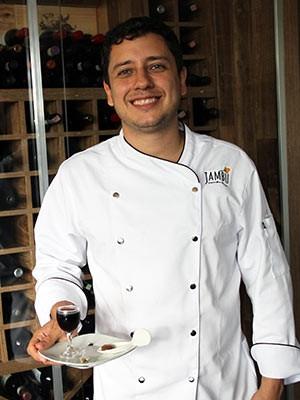 O chef paraense Leandro Nunes, que criou o cardápio com formigas da amazônia (Foto: Vianey Bentes/TV Globo)