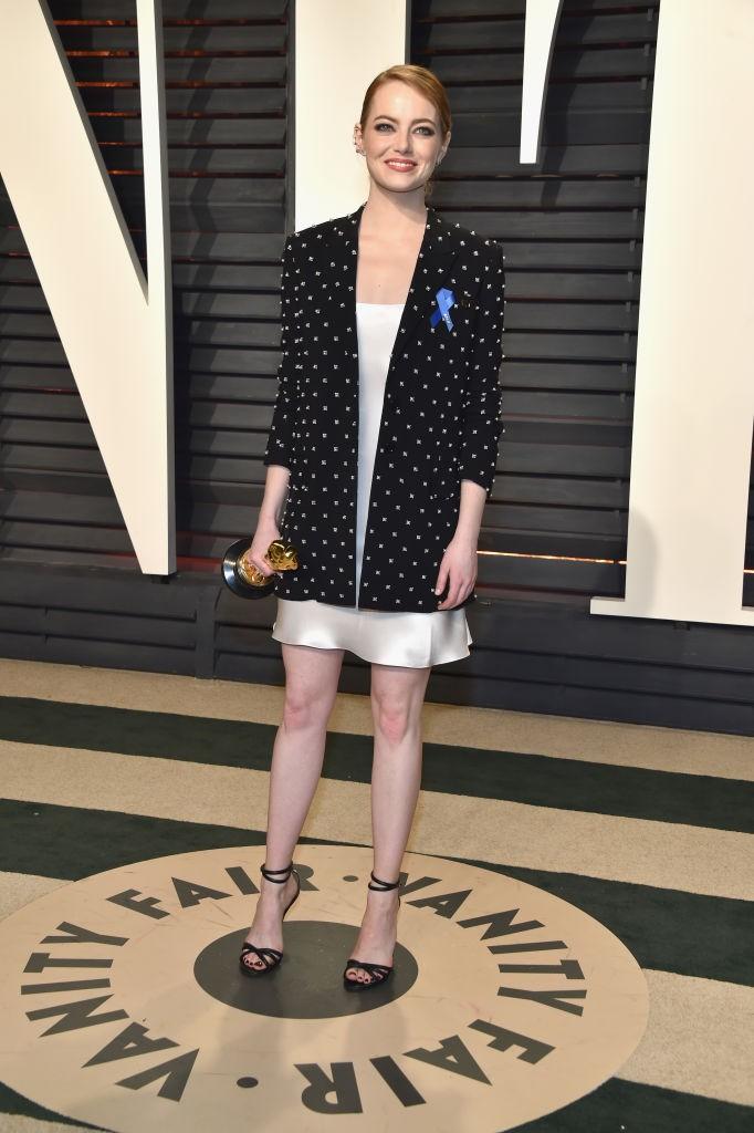 Emma Stone na festa da Vanity Fair (Foto: Getty)