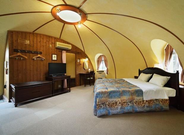 dome-house-japão-casa-aguenta-temperaturas-extremas (Foto: Reprodução/Booking.com)