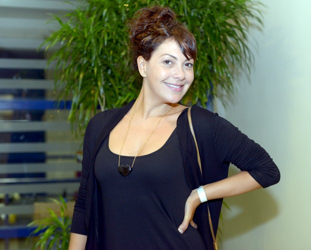 Fabiula Nascimento bastidores Top 10 (Foto: Camila Serejo/TV Globo)