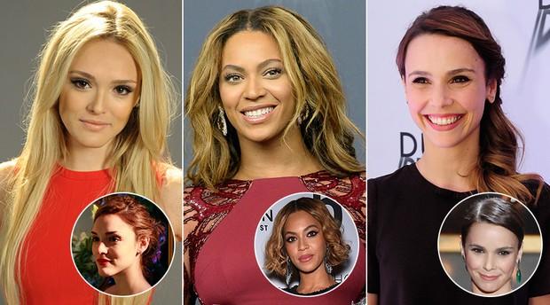 Isabelle Drummond, Beyoncé e Débora Falabella (Foto: TV Globo / Reuters )
