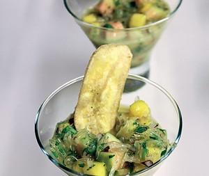Ceviche de frutas verdes        (Foto: Isabella Machado/ Editora Globo)