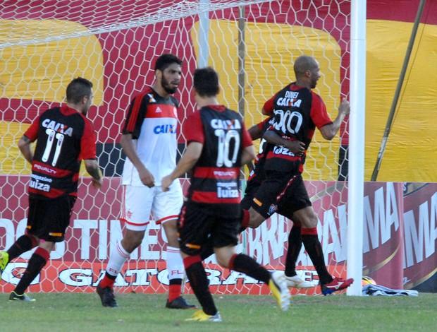 Dinei gol vitória x Flamengo (Foto: Romildo de Jesus / Futura Press)