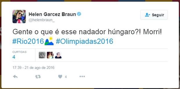 Nadador húngaro Dániel Gyurta faz sucesso na internet (Foto: Twitter / Reprodução)