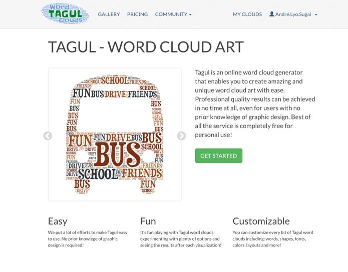 Tagul - crie uma nuvem de palavras utilizando imagens (Foto: Reprodução/André Sugai)