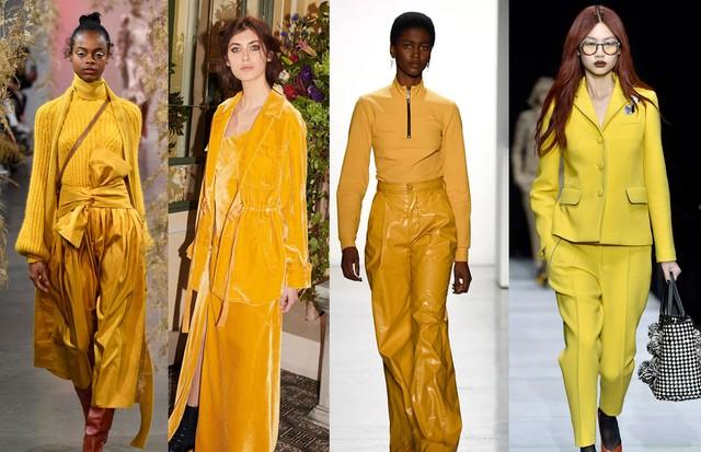 Amarelo vira hit nas ruas e passarelas da NYFW (Foto: Divulgação, Reprodução, IMAxTree e Getty)