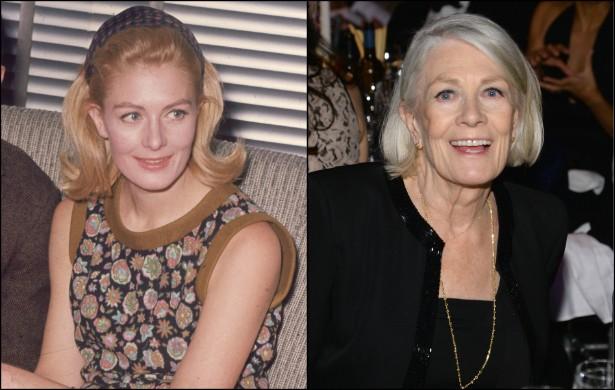 Vanessa Redgrave pouco antes de completar 29 anos, em janeiro de 1966, e agora, com 77. (Foto: Getty Images)