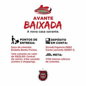 campanha doação cimento torcida torcedores Brasil de Pelotas Bento Freitas reforma (Foto: Divulgação / GEBrasil)
