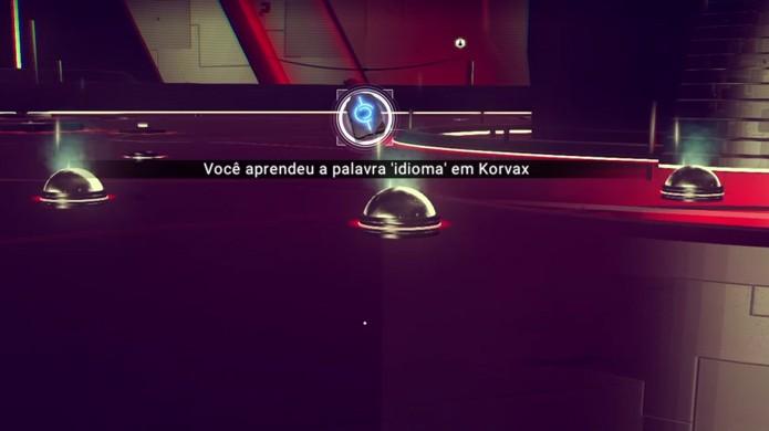 As várias luzes dentro da interface do Atlas contêm várias palavras alienígenas de No Mans Sky (Foto: Reprodução/Rafael Monteiro)