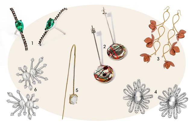 1. Stella Jacintho 2. Amora Creative Jewellery 3. Marni 4. Manuela Henriques 5. Lado Basic 6. Carol Bassi   (Foto: Arte Vogue Online)