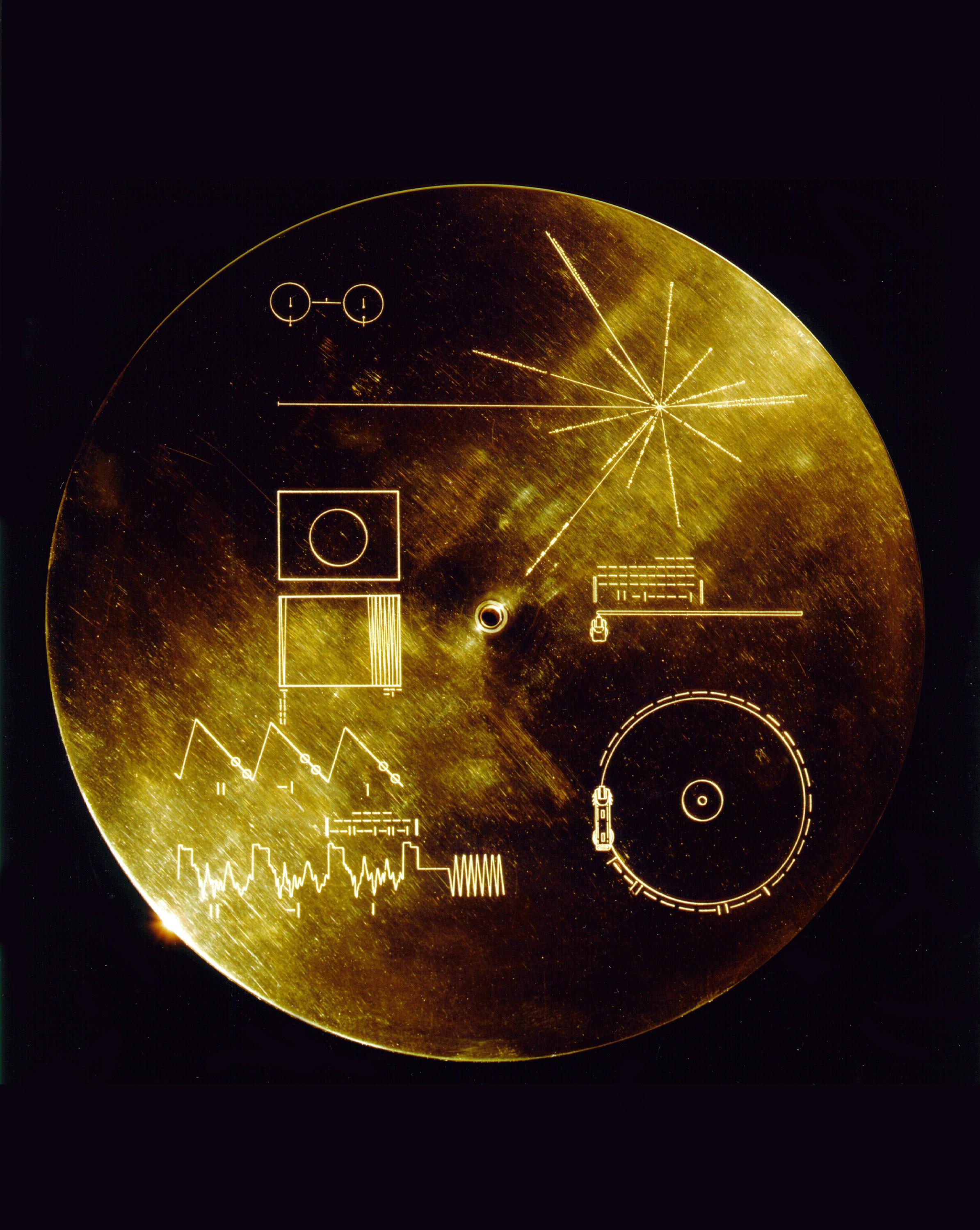 Cada disco dourado tem 115 imagens da vida na Terra (Foto: Nasa)
