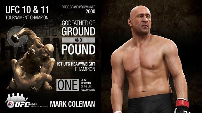 EA Sports UFC: Primeiro lutador lendário do novo DLC é Mark Coleman (Foto: Divulgação)