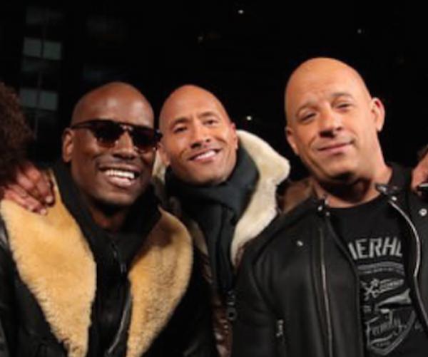 Os astros da franquia Velozes e Furiosos: Tyrese, The Rock e Vin Diesel (Foto: Instagram)