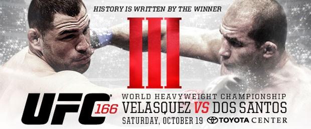 Primeira imagem do pôster da luta entre Velásquez e Cigano ...  Primeira imagem...