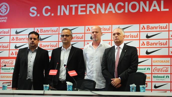 Jorge Macedo Roberto Melo Antônio Carlos Zago Marcelo Medeiros Inter (Foto: Ricardo Duarte / Inter / Divulgação)