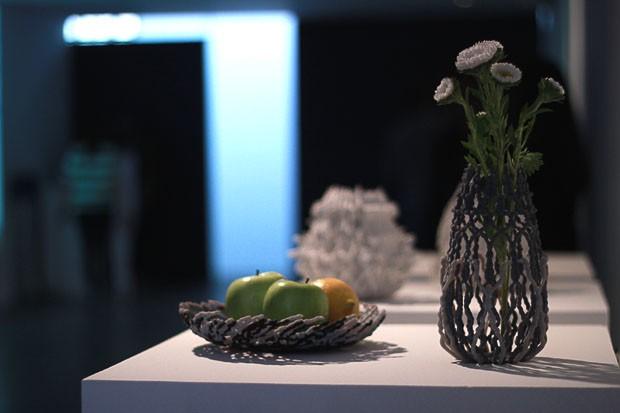 Obras do projeto Love Project impressas em 3D (Foto: Michell Lott)