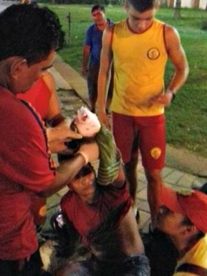 Bombeiros mirins fizeram atendimento em vítimas de acidente de trânsito em Rio Branco (Foto: Divulgação/Corpo de Bombeiros)