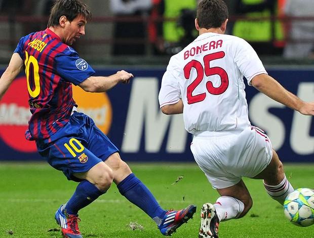 Messi - Milan X Barcelona (Foto: Agência AFP)