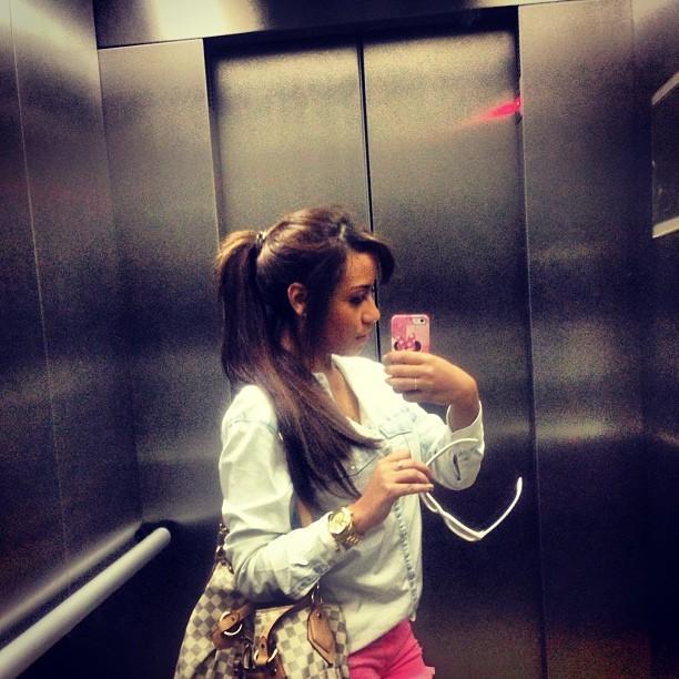 Irmã de Neymar, Rafaella, elevador (Foto: Reprodução  / Instagram)