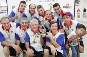 Equipe da bocha leva o ouro para Mogi das Cruzes (Foto: Cleomar Macedo)