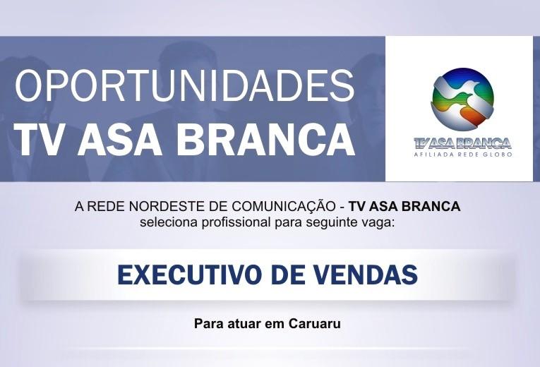 TV Asa Branca seleciona profissional para a vaga de executivo de vendas (Foto: Reprodução/ TV Asa Branca)